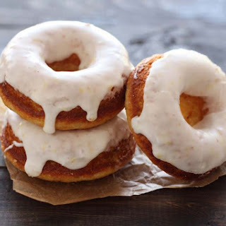 Baked Doughnuts with Lemon Glaze