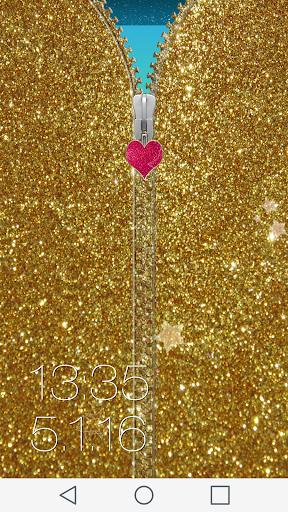 Glitter Zipper Lock Screen