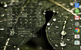 Screenshot of Calendar Widget (key)