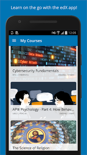 Screenshot 0 for EdX's Android app'