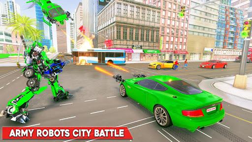 Army Bus Robot Transform Wars u2013 Air jet robot game screenshots 11