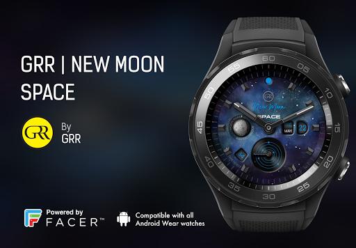 GRR | NEW MOON SPACE Watch Face  screenshots 1