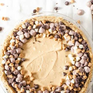 No-bake Peanut Butter Pie with Pretzel Crust.