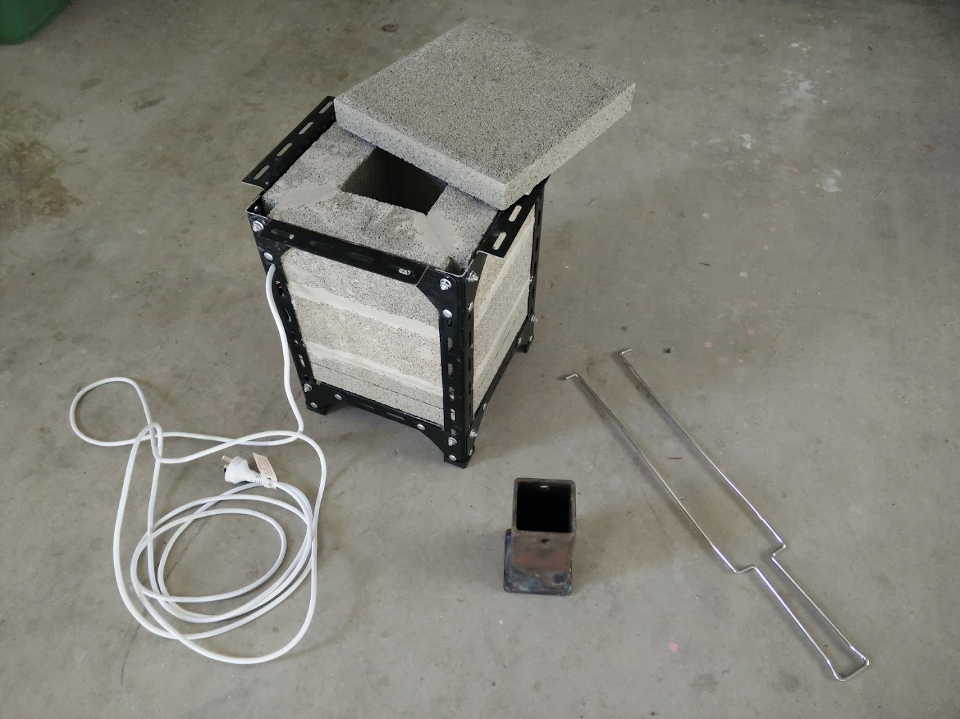 Assembled electric furnace