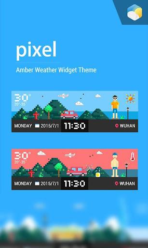 Pixel style weather widget