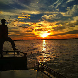 Travel to the boat by Avik Nath - Uncategorized All Uncategorized ( sky, outdoor, sunset, sun, boat, summer )