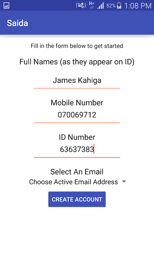 Saida Loans to your MPesa Android Apps on Google Play – Simple Loan Form