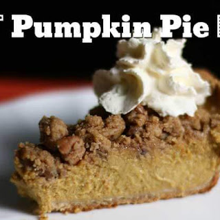 Best Pumpkin Pie Ever with Nut Crumble Topping