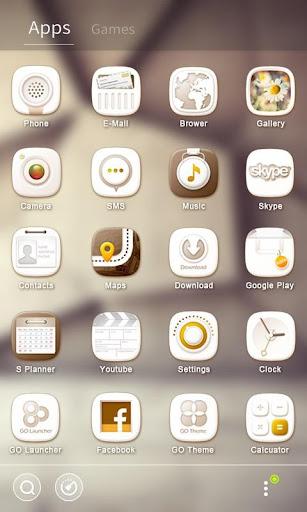 White Stone GO Launcher Theme v1.0 screenshots 3