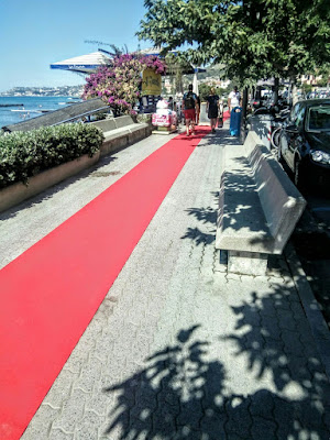Red carpet for going in the beach di enzocala