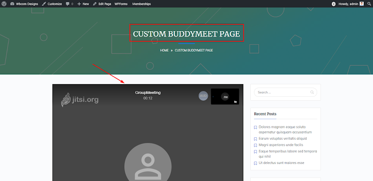 custom BuddyMeet Page