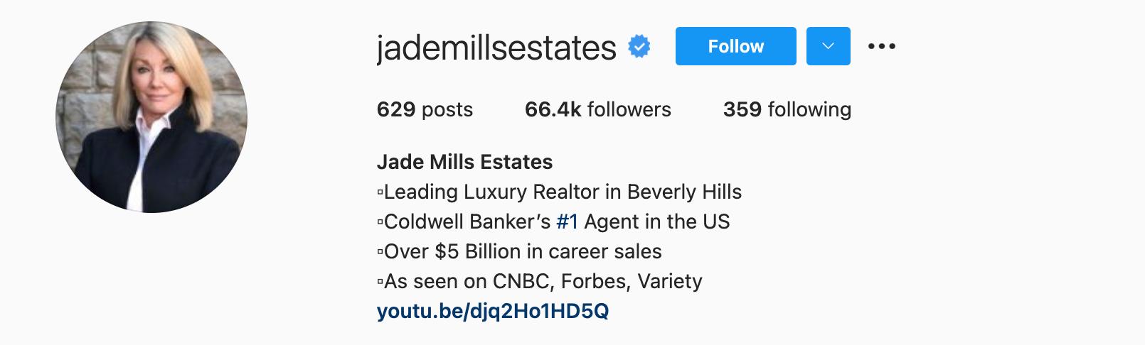 real estate social media bio examples