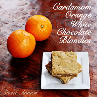 Cardamom Orange White Chocolate Blondies.