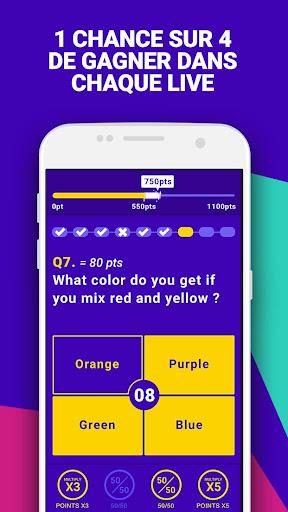 Bethewone u2022 Live Quiz Cash Games  captures d'u00e9cran 2