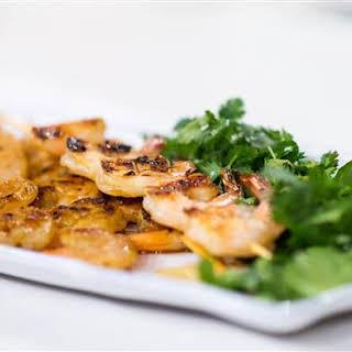 5-Ingredient Ginger Honey Grilled Shrimp Kabobs.