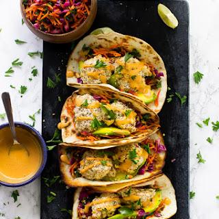Crispy Cauliflower Tacos with Chipotle Crema
