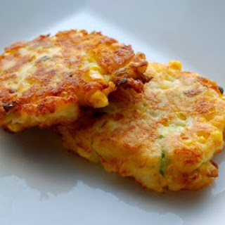 Corn & Cheddar Mashed Potato Fritters.