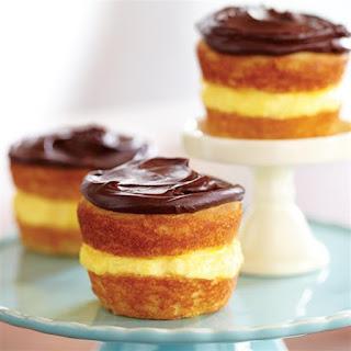 Boston Cream Cupcakes.