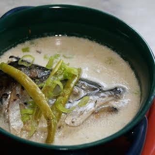Fish Head Soup With Coconut Cream.