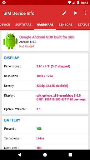 SIM Device Info 6.0 screenshots 6