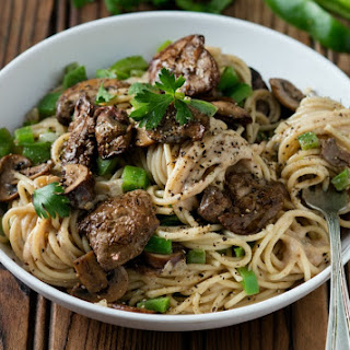 Creamy Chicken Liver and Mushroom Pasta Recipe