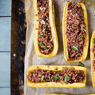 Delicata Boats with Red Rice Stuffing