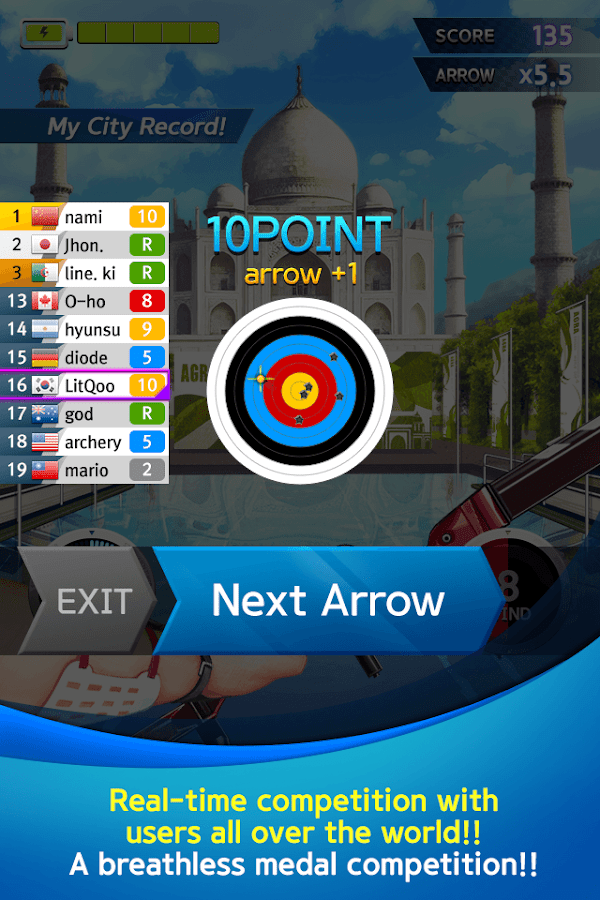 ArcherWorldCup - Archery game - screenshot