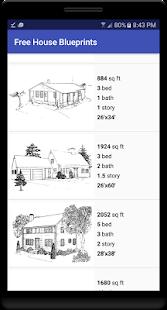 Free House Blueprints - náhled