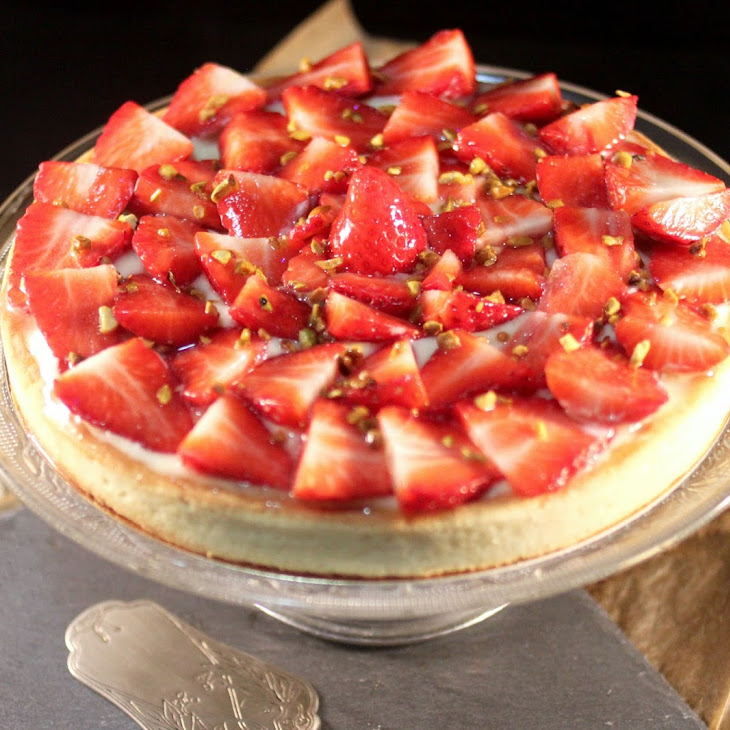 Strawberry Custard Pie with Almond Cream