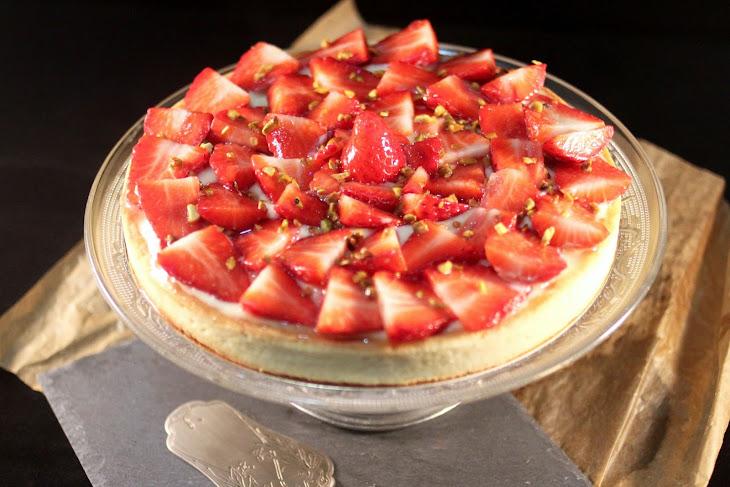 Strawberry Custard Pie with Almond Cream Recipe