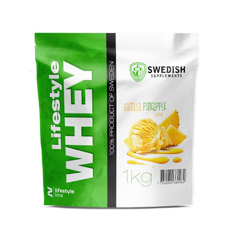 Swedish Supplements Lifestyle Whey Protein 1kg - Vanilla/Pineapple