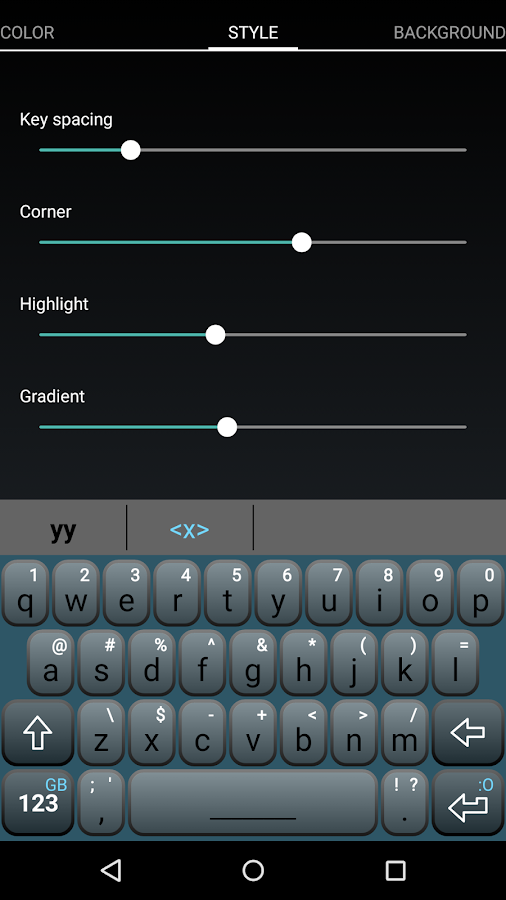 Magic Keyboard (Paid version)- screenshot