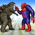 Gorilla City Rampage: Angry Animal Attack Game icon