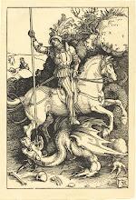 Photo: Albrecht Dürer (German, 1471 - 1528 ), Saint George Killing the Dragon, 1501/1504, woodcut, Rosenwald Collection