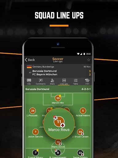 LiveScore: Live Sport Updates 3.0.11 screenshots 4