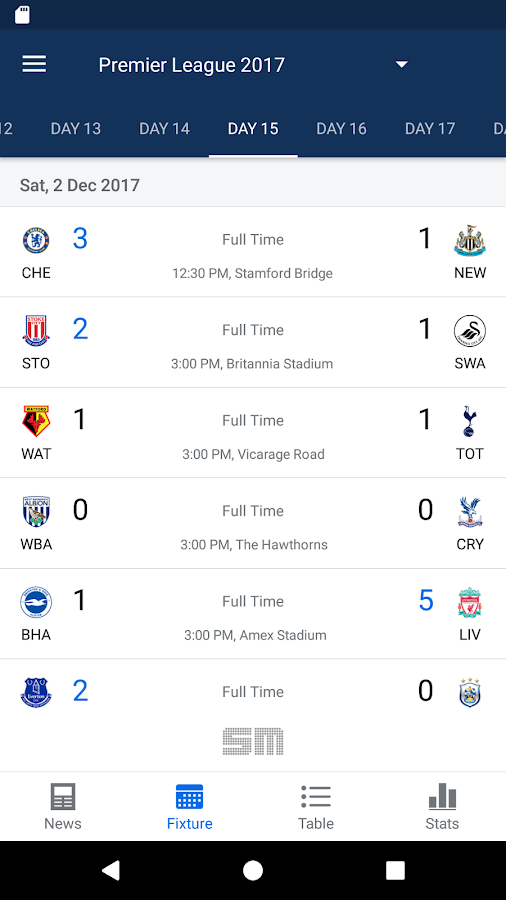 Epl live english premier league scores and stats android apps on google play - Premier league table home away ...