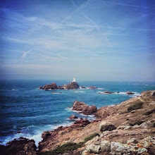 Photo: And this is Corbiere lighthouse, where we stopped briefly to walk around. Gotta love living in Jersey!