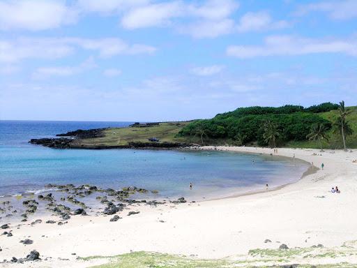 A beach on Easter Island.
