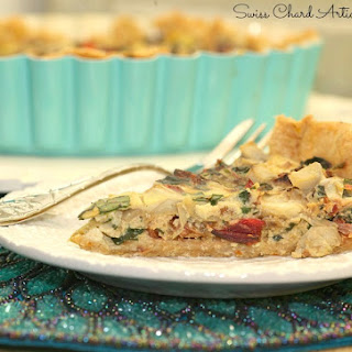 Swiss Chard and Artichoke Quiche with Spiced Whole Wheat Crust