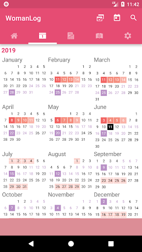 WomanLog Calendar  screenshot 5
