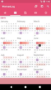 App WomanLog Period Tracker & Calendar APK for Windows Phone