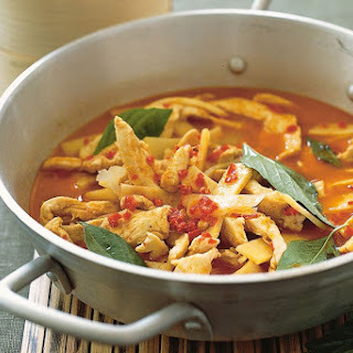 Chicken Red Curry With Bamboo Shoots.