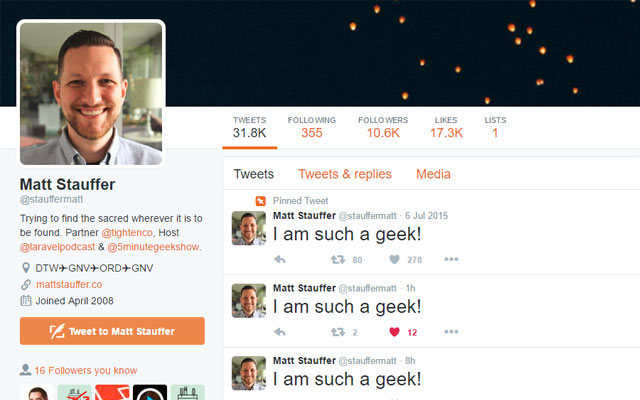 Fix Matt Stauffer Tweets