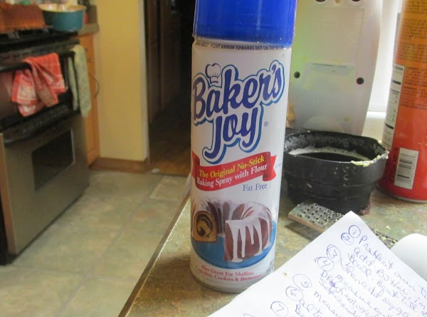 Spray Pan with Bakers Joy or butter and flour pan and tap out excess...