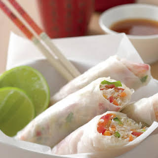 Fresh Vegetable Spring Rolls.