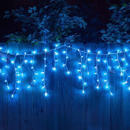 Instalatie pentru Craciun - franjuri, cu LED-uri tip turturi, 8 metri