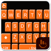 Dark Orange Keyboard Theme
