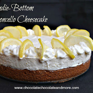 Blondie-Bottom Limoncello Cheesecake.