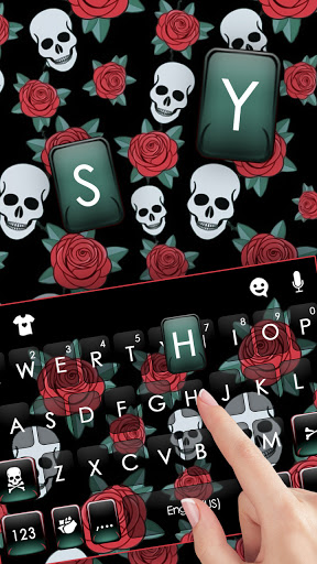 Roses Skull Keyboard Background cheat hacks