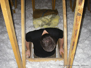 Photo: Don't forget the attic hatch, it's behind you! Not yellow anymore!